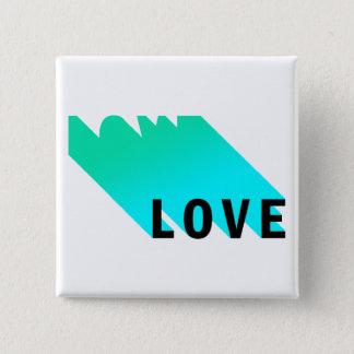 Badge Carré 5 Cm Bouton d'amour