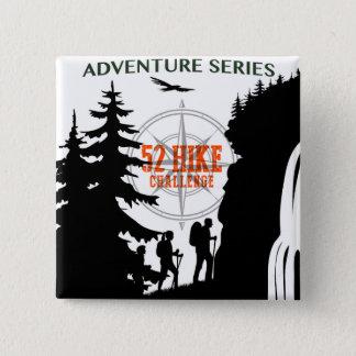 Badge Carré 5 Cm Bouton de 52 de hausse de défi séries d'aventure