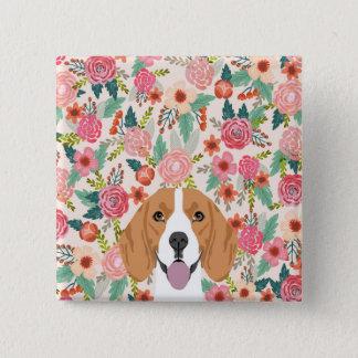 Badge Carré 5 Cm Bouton de beagle - bouton de chien