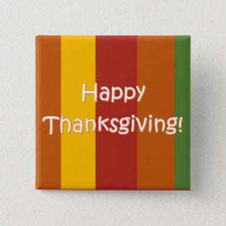 Badge Carré 5 Cm Bouton de bon thanksgiving