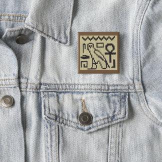 Badge Carré 5 Cm Bouton de broche d'impression de crochet