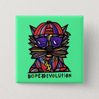 """Badge Carré 5 Cm Bouton de carré """"d'évolution de dopant"""""""