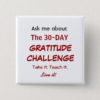 Badge Carré 5 Cm Bouton de défi de gratitude