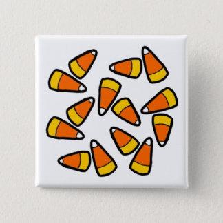 Badge Carré 5 Cm Bouton de Halloween de bonbons au maïs