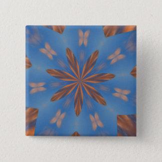 Badge Carré 5 Cm Bouton de kaléidoscope