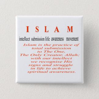 Badge Carré 5 Cm Bouton de l'ISLAM
