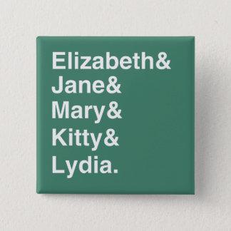 Badge Carré 5 Cm Bouton de liste de noms de soeurs de fierté et de