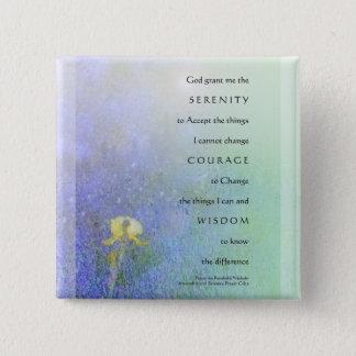 Badge Carré 5 Cm Bouton de mélange d'iris jaune de prière de