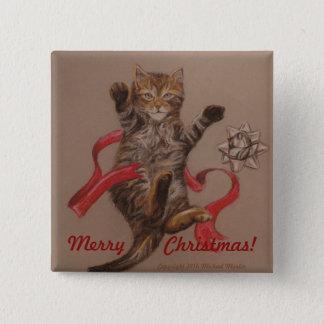Badge Carré 5 Cm Bouton de Noël