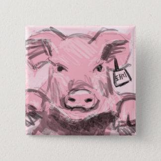 Badge Carré 5 Cm Bouton de porc