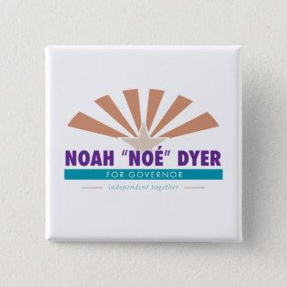 """Badge Carré 5 Cm Bouton de tinctorial de Noé """"Noé"""" [slogan"""