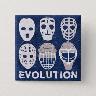 Badge Carré 5 Cm Bouton d'évolution de masque de gardien de but