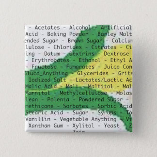 Badge Carré 5 Cm Bouton d'ingrédients d'allergie de maïs