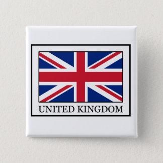 Badge Carré 5 Cm Bouton du Royaume-Uni