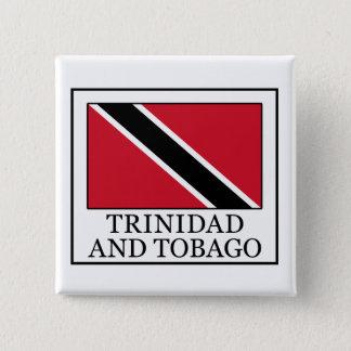 Badge Carré 5 Cm Bouton du Trinidad-et-Tobago