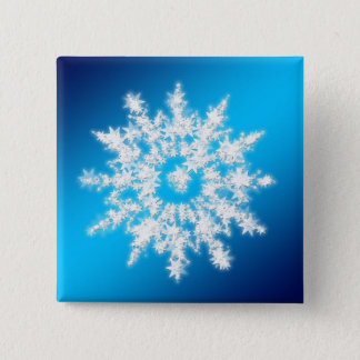 Badge Carré 5 Cm Bouton étoilé de Noël de carré de flocon de neige