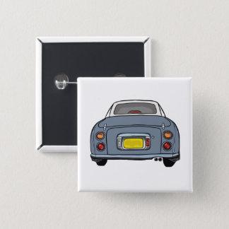 Badge Carré 5 Cm Bouton gris de Pin de carré de voiture de Lapis