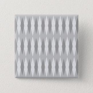 Badge Carré 5 Cm Bouton gris moderne de carré de Jacquard de la