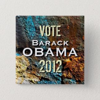 Badge Carré 5 Cm Bouton grunge moderne de campagne d'Obama 2012