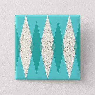Badge Carré 5 Cm Bouton moderne de carré de Jacquard de la moitié