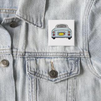 Badge Carré 5 Cm Bouton pâle carré de Pinback de voiture de Nissan