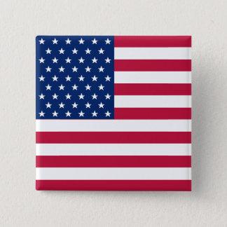 Badge Carré 5 Cm Bouton patriotique américain de Pin de drapeau des