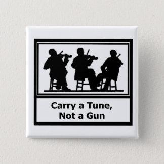 Badge Carré 5 Cm Bouton - portez un air, pas une arme à feu