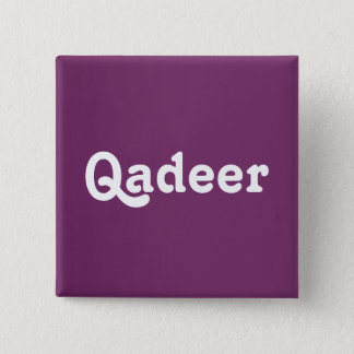Badge Carré 5 Cm Bouton Qadeer