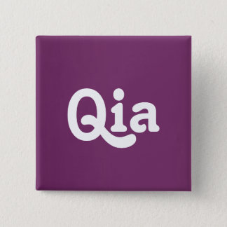 Badge Carré 5 Cm Bouton Qia