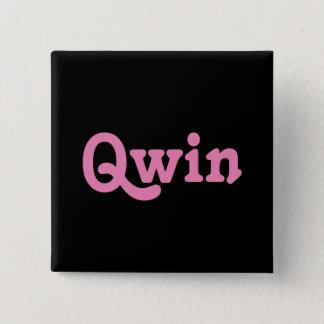Badge Carré 5 Cm Bouton Qwin