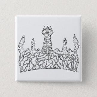 Badge Carré 5 Cm Bouton royal