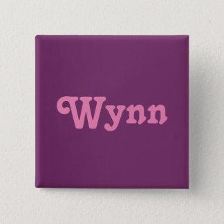 Badge Carré 5 Cm Bouton Wynn