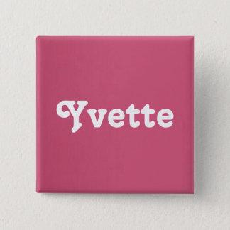 Badge Carré 5 Cm Bouton Yvette
