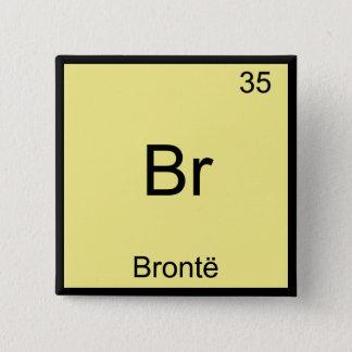 Badge Carré 5 Cm Br - T-shirt drôle de symbole d'élément de chimie