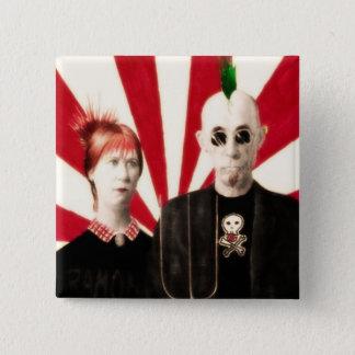 Badge Carré 5 Cm Butt'n punk américain