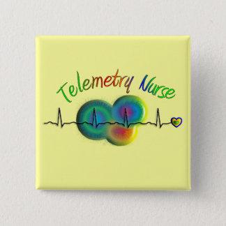 Badge Carré 5 Cm Cadeaux d'infirmière de télémétrie
