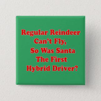 Badge Carré 5 Cm calembour d'hybride du renne de père Noël