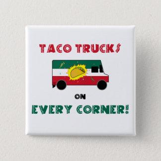 Badge Carré 5 Cm Camions de taco sur chaque coin