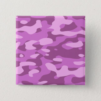 Badge Carré 5 Cm Camouflage rose Girly