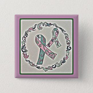 Badge Carré 5 Cm Cancer du sein métastatique 2