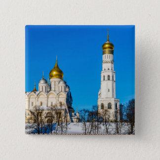 Badge Carré 5 Cm Cathédrales de Moscou Kremlin