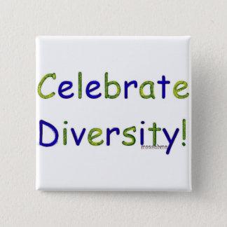 Badge Carré 5 Cm Célébrez la diversité