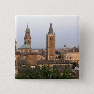 Badge Carré 5 Cm Centre de la ville de Parme ; Église de Battistero