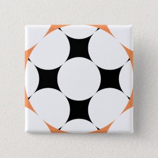 Badge Carré 5 Cm Cercle à quatre étoiles par Kenneth Yoncich