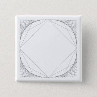 """Badge Carré 5 Cm Cercle pour ajuster 2"""" bouton carré"""