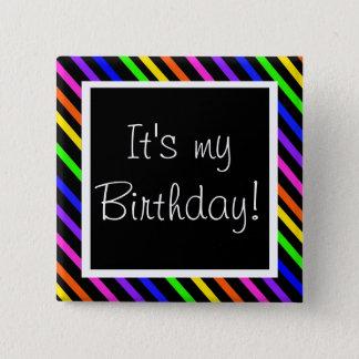 Badge Carré 5 Cm C'est mon anniversaire !