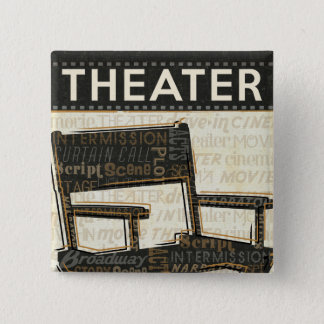 Badge Carré 5 Cm Chaise vintage de film