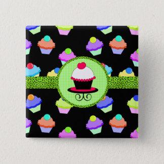 Badge Carré 5 Cm Chaos coloré de petit gâteau