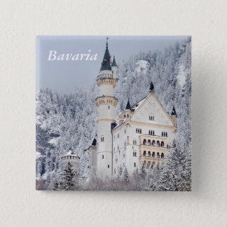 Badge Carré 5 Cm Château de Neuschwanstein