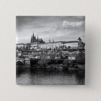 Badge Carré 5 Cm Château de Prague